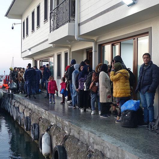 Çanakkale'den Yunanistan'ın Midilli Adası'na gitmek isteyen 146 kaçak göçmen yakalandı