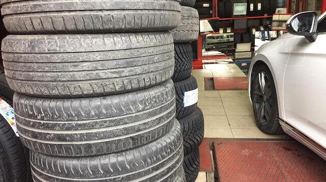Lastikçilerde 'kış lastiği' yoğunluğu: Kurala uymayan sürücülere  625 lira ceza kesilecek