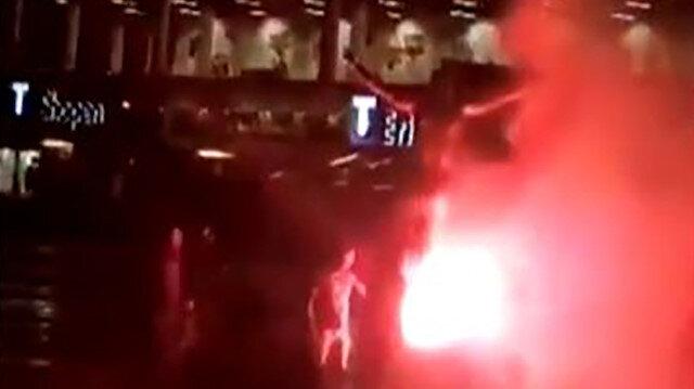 Zlatan İbrahimovic'in heykelini yaktılar