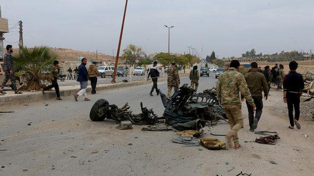 Tel Abyad'daki terör saldırısında 5 sivil yaralandı