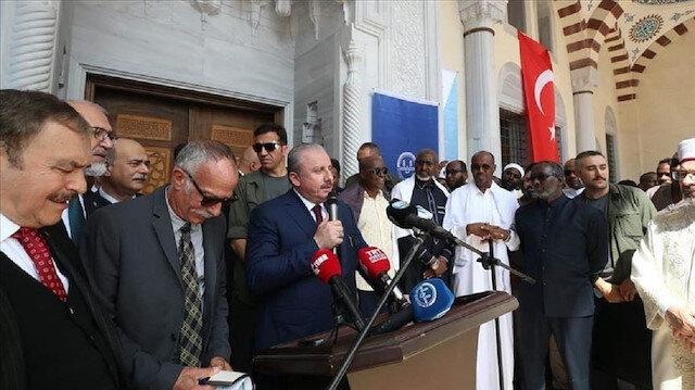 رئيس البرلمان التركي يفتتح مسجد ومجمع عبد الحميد الثاني في جيبوتي
