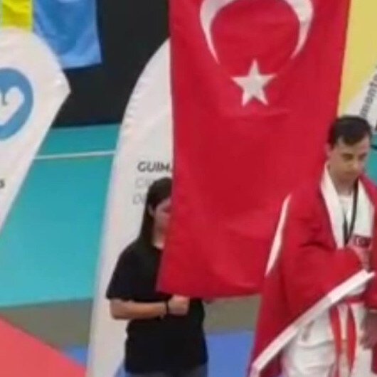 Turkish athlete bags gold medal at JUDOWN competition