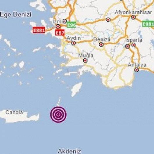 Akdeniz'de 4.3 büyüklüğünde deprem oldu