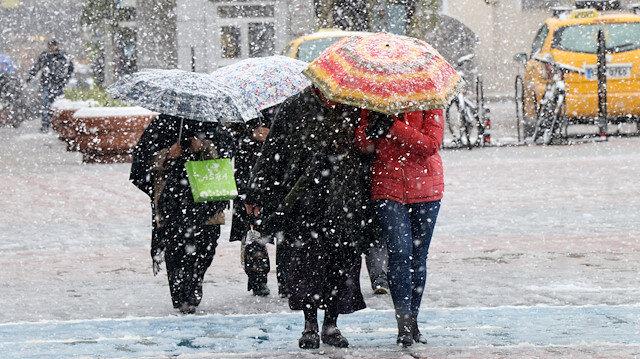 Meteorolojiden 35 ile kar yağışı uyarısı yapıldı