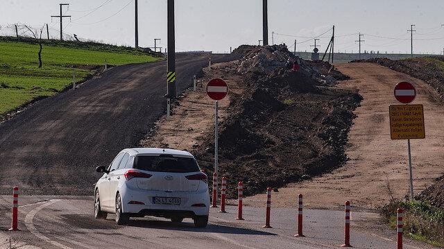 Çatalca'da tarla sahibi davayı kazandı: Ekipler yolun yerini değiştirdi