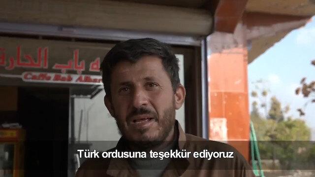 Rasulaynlı esnaf Türk ordusuna böyle teşekkür etti