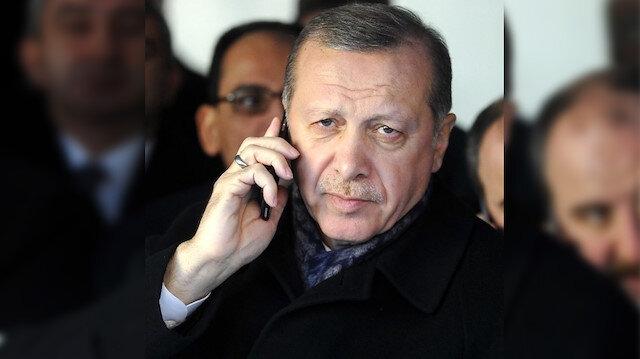 Cumhurbaşkanı Erdoğan Ceren Özdemir'in ailesiyle görüşerek taziyelerini iletti
