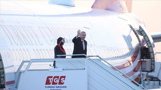 أردوغان يصل أنقرة قادمًا من لندن
