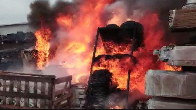 Çatalca'da fabrika yangını: 1 işçi hafif yaralandı