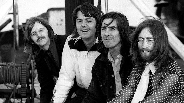 Members of the Beatles, Ringo Starr, Paul McCartney, George Harrison and John Lennon