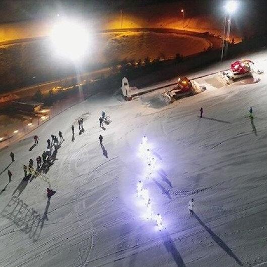 افتتاح موسم السياحة الشتوية للتزلج في أرضروم التركية