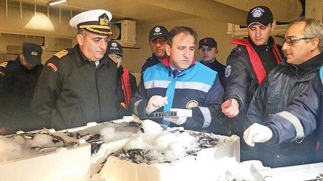 13 ton balığa el konuldu