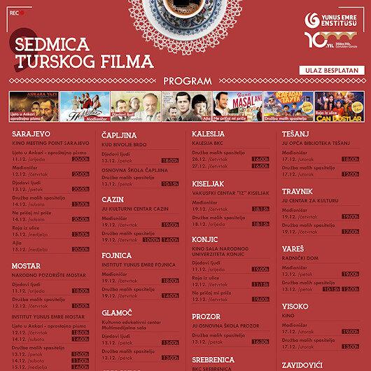 Turkish Film Week to kick off in Bosnia