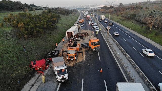TEM'i kullanacaklar dikkat: Trafik kitlendi
