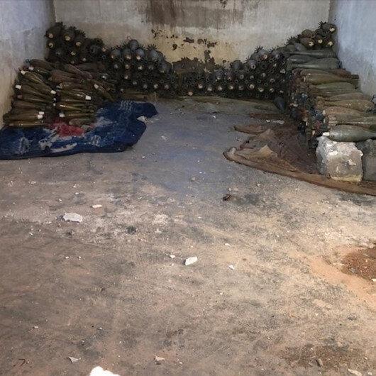 MSB: Rasulayn'da PKK/YPG'li teröristlerin sivil bir eve tuzakladığı 565 havan mühimmatı ele geçirildi