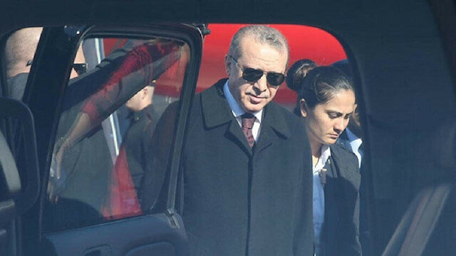 File photo: President Recep Tayyip Erdoğan will test-drive the first prototype of the car on Dec. 14