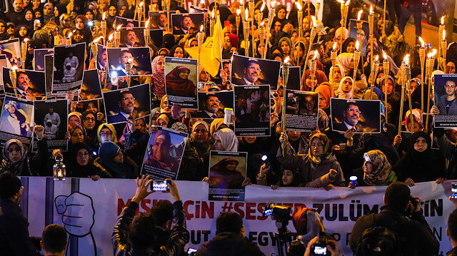 Turkey hosts rally for Egyptian prisoners