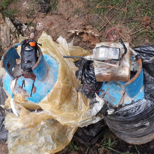MSB: Rasulayn'da menfez içerisine gizlenmiş iki tüp tespit edildi