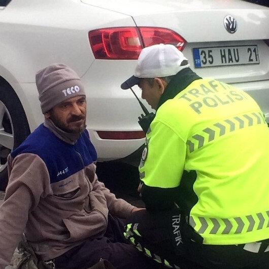 Trafik cezası yedi: Yolda oturma eylemi yaptı