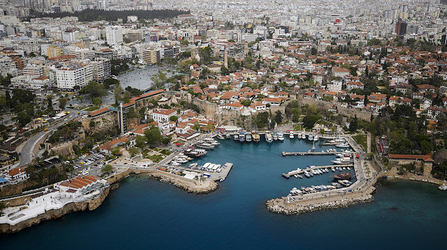 File photo: An aerial view of Antalya
