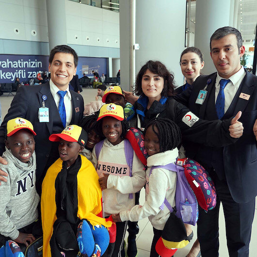 Ugandan dance group of orphans arrives in Turkey