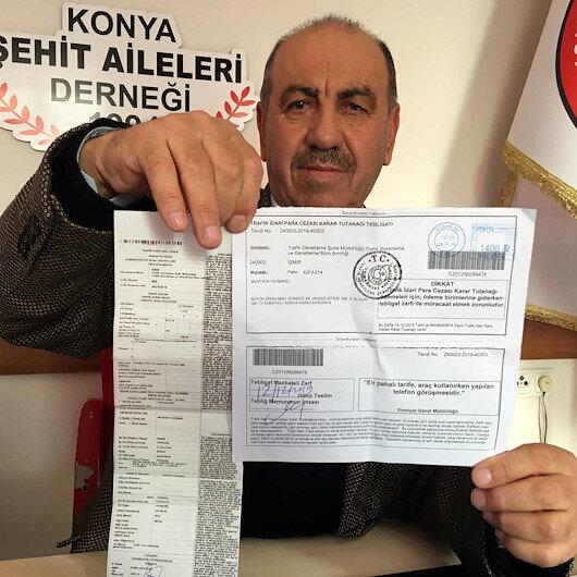 Şehit babasının otomobiline, hiç gitmediği İzmir'de park cezası kesildi: Dava açıp bu işin takipçisi olacağım