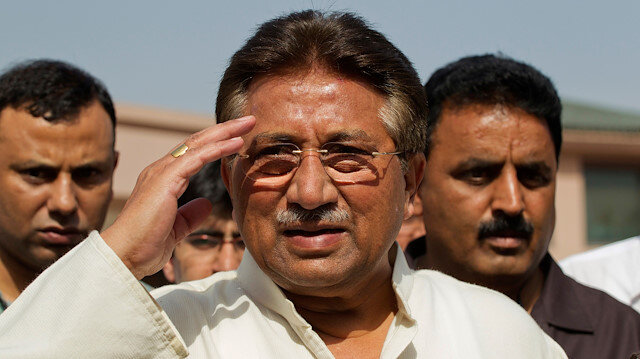 Pakistan's former President and head of the All Pakistan Muslim League (APML) political party Pervez Musharraf