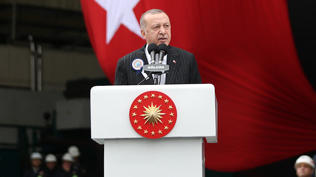 President of Turkey Recep Tayyip Erdogan in Kocaeli
