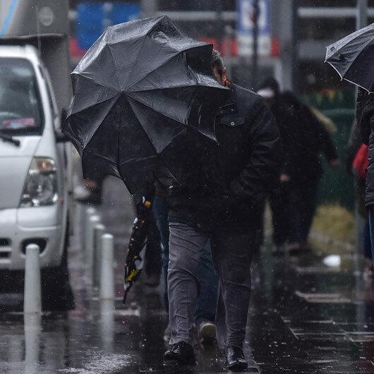 Meteorolojiden 2 bölgeye fırtına 30 ile yağış uyarısı yapıldı