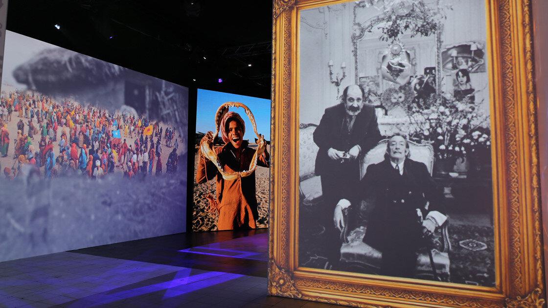 Ara Güler'in dünyaca ünlü sanatçılarla çekildiği fotoğrafçılarda sergide bulunuyor.