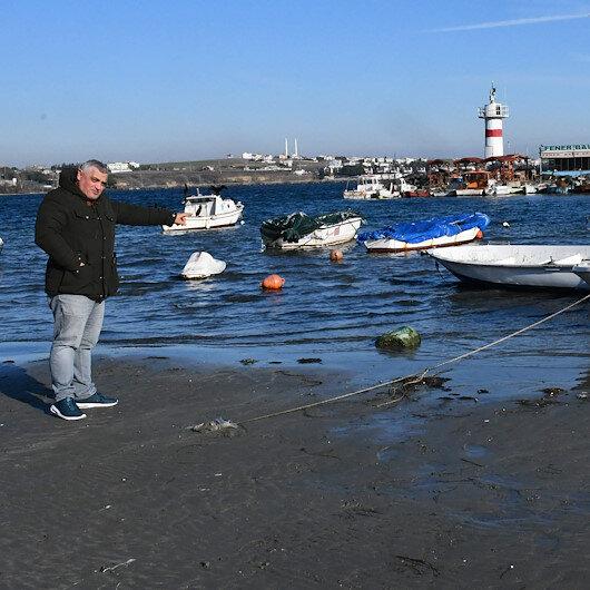 Tekirdağ'da deniz 30 metre çekildi: Bazı balıkçı kayıkları karaya oturdu