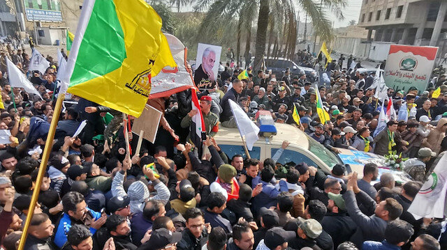 Mourners attend the funeral of the Iranian Major-General Qassem Soleimani