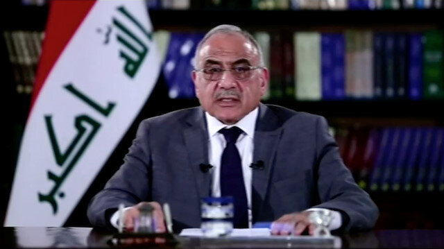 A still image taken from a video shows Iraqi Prime Minister Adel Abdul-Mahdi