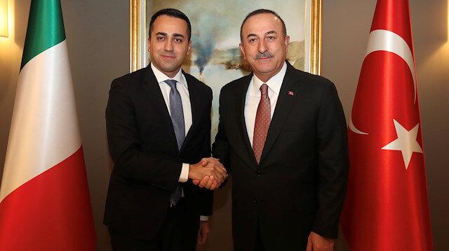 Turkish Foreign Minister Mevlut Cavusoglu meets with his Italian counterpart Luigi Di Maio in Istanbul, Turkey, January 7, 2020.