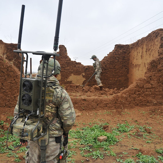 MSB: PKK/YPG'nin tuzakladığı bin 660 EYP ve 891 mayın tespit edilerek etkisiz hale getirildi