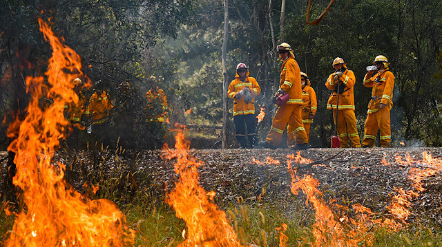 A supplied image obtained January 8, 2020 shows Country Fire Authority (CFA) strike teams performing controlled burning west of Corryong, Victoria, Australia, January 7, 2020. Picture taken January 7, 2020. AAP Image/Supplied by State Control Centre Media/News Corp Australia