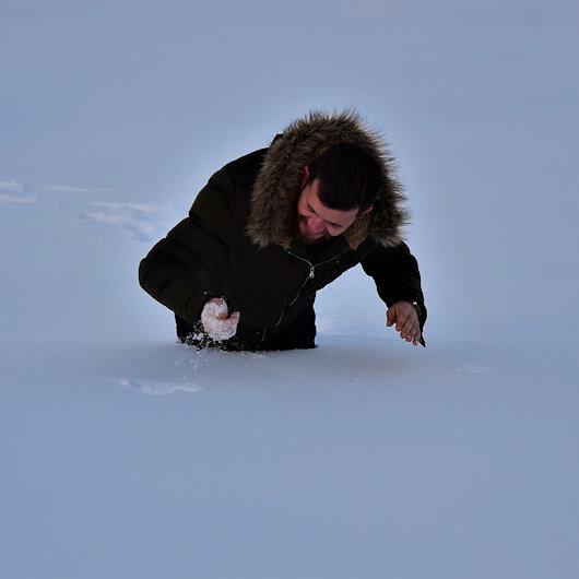 Bilecik'in bazı köylerinde kar kalınlığı 1 metreye yaklaştı