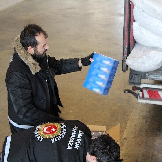 Kapıkule'de 14 milyon 750 adet makaron ele geçirildi