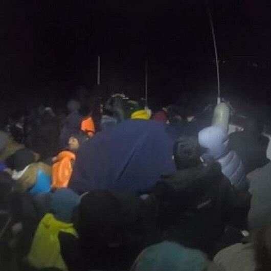 """خفر السواحل التركي يضبط 70 مهاجرا قبالة """"جناق قلعة"""""""