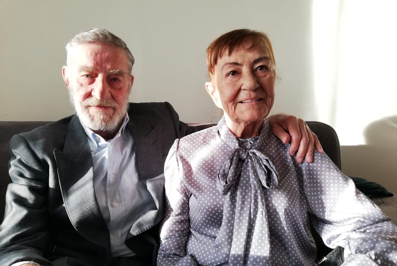 Ahmet Mekin ve eşi Kumral Şükran Kurteli