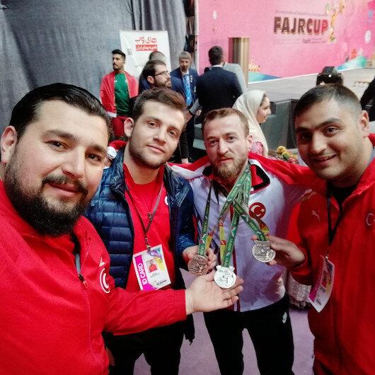 """تركي يحقق 3 ميداليات في بطولة """"فجر"""" الدولية لرفع الأثقال"""