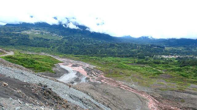 A view of tailings at Barrick Gold Corp's Porgera mine, Papua New Guinea