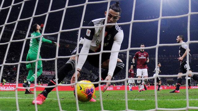 Ronaldo, Milan filelerini penaltıdan havalandırdı.