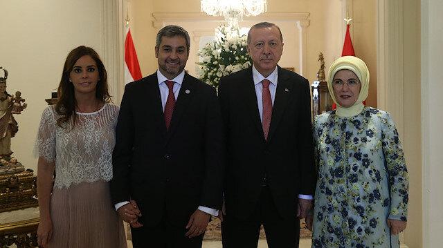 File photo: President of Turkey Recep Tayyip Erdogan- Mario Abdo Benitez meeting