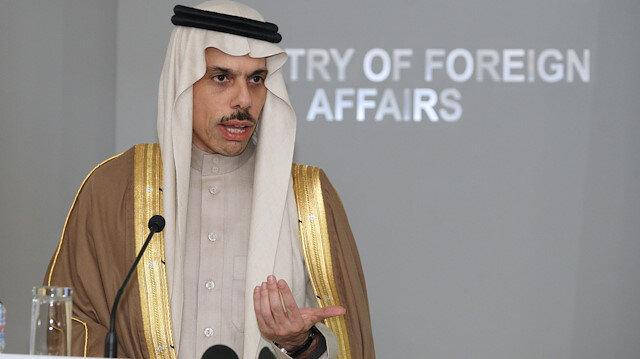 Saudi Arabia Foreign Minister Prince Faisal bin Farhan Al Saud is welcomed by his Bulgarian counterpart Ekaterina Zaharieva in Sofia, Bulgaria, January 29, 2020.REUTERS/Dimitar Kyosemarliev