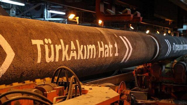 السيل التركي ينقل 506 ملايين متر مكعب من الغاز الروسي في يناير