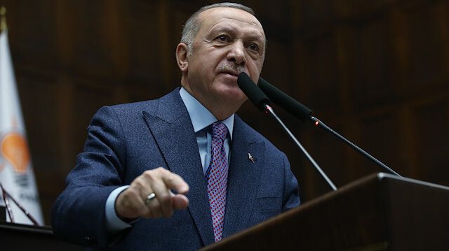 AK Party's parliamentary group meeting in Ankara