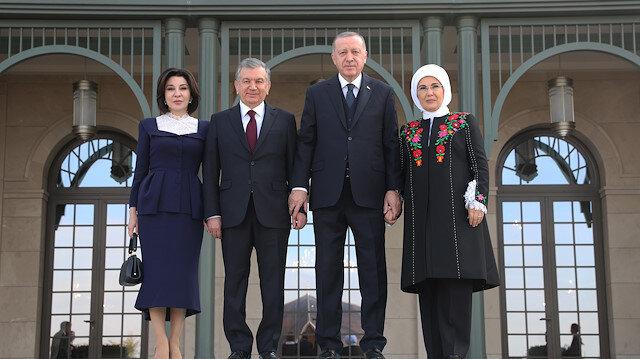 أردوغان يجري لقاء مع نظيره الأوزبكي بأنقرة