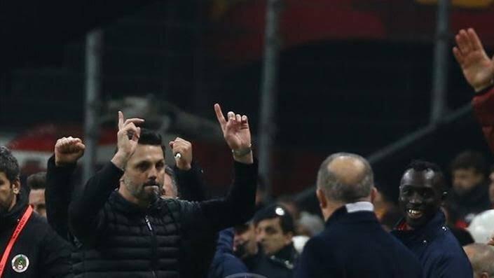 Erol Bulut'un Galatasaray'la oynadıkları kupa maçında yaşadığı sevinç.