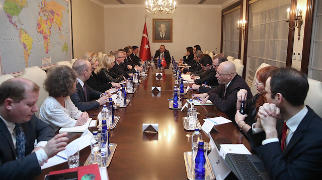 Mevlut Cavusoglu - David McAllister meeting in Ankara